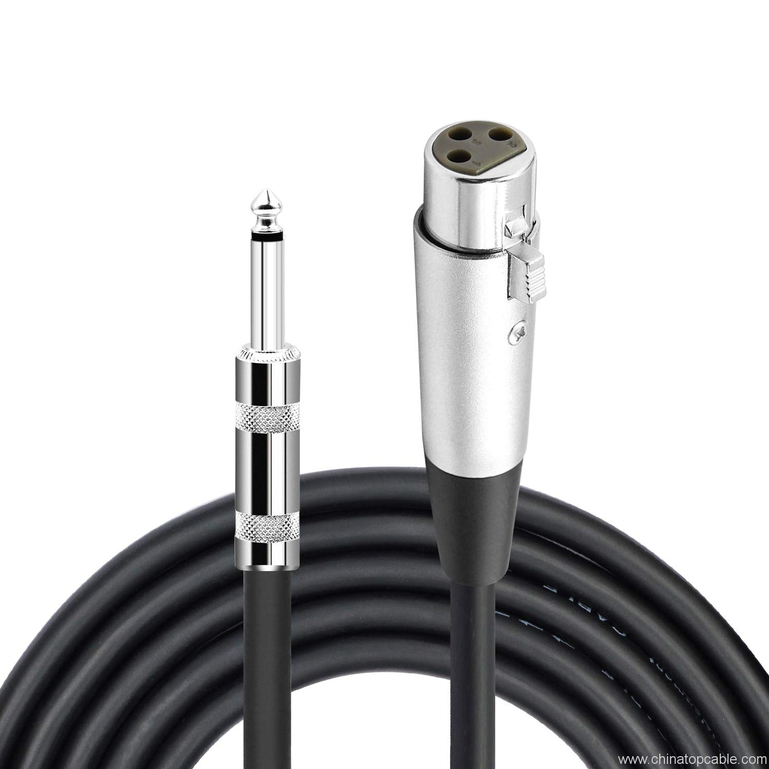 Male XLR Male to 6.35mm Mono Jack Microphone Cable 3m